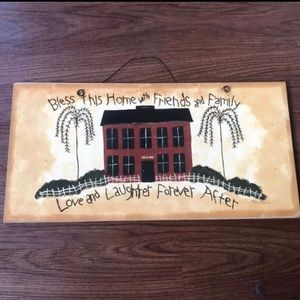 Home decor love & laughter wall art Lorie Maphies